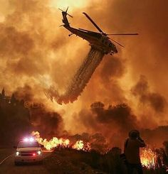 (My friend works as a firefighter in Monterey, California. This is what they were dealing with yesterday. Please visit my website to view more. Firefighter Paramedic, Wildland Firefighter, Firefighter Quotes, Volunteer Firefighter, Firefighters, Firemen, Fire Dept, Fire Department, Planes
