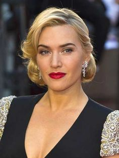 Kate Winslet very 1950's hair style here.