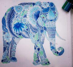 #milliemarotta #elephant #tropicalwonderland #greenandblue