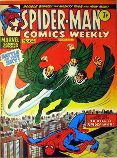 orig UK Cover for Spider-Man Comics Weekly (Marvel UK, 1973 series) #64