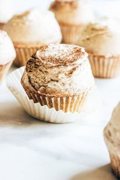 Spice Cupcakes with Chai Frosting