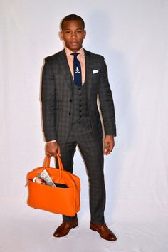 #Style Review: #Leather Goods by @LoganZaneNY. Baltimore Buzz Suit by @Indochino http://wp.me/p1cLfe-1pS  feat @SwaggerAndSwoon (#tie) @Mantorii Footwear #menswear
