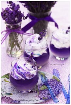 Lavender Panna Cotta with Lavender Whipped Cream by theresahelmer on DeviantArt