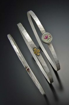 """Symbolizing sweetness, femininity, and perseverance""  Magnolia Bangle Set | Ananda Khalsa Jewelry"