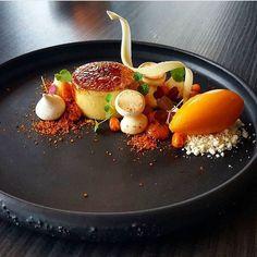 ( ^o^ ) White chocolate creme brûlée & sea buckthorn sorbet. ✅ By - @vidal31 ✅ #ChefsOfInstagram www.ChefsOF.com