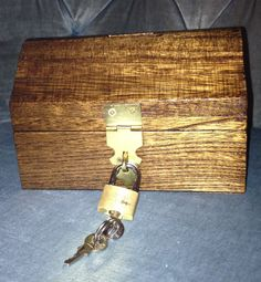 Wooden Treasure Chest Bank by jgaCreations on Etsy, $8.00