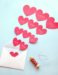 send some love with these printable hearts