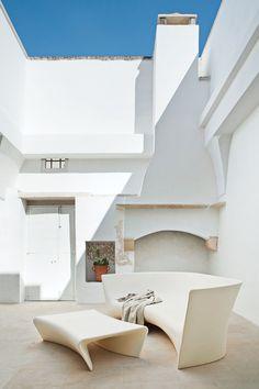 Modern courtyard....
