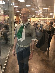 Christopher Christmas elf modeling inside a storefront window at Arbor Place Mall of Douglasville Georgia  The name of the store is EarthBound the people are very nice there they're very nice to me and thanks to Earthbound I got the model in their storefront window  Douglasville Lithia Springs Villa Rica Atlanta Marietta Powder Springs