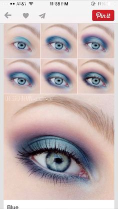 Makeup Forever Invisible Cover Concealer with Natural Smokey Eye Makeup On Brown… - Make-Up Techniken Colorful Eye Makeup, Simple Eye Makeup, Blue Eye Makeup, Smokey Eye Makeup, Eyeshadow Makeup, Makeup Cosmetics, Glowy Makeup, Natural Makeup, Blue Smokey Eye
