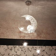 Free Shipping Aluminum Wire Moon & Star Kid's Bedroom Pendant Lamp Chandelier Light Ceiling, http://www.amazon.com/dp/B00D77A210/ref=cm_sw_r_pi_awd_TMRAsb0GGBVWB