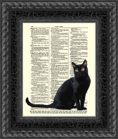 Hey, I found this really awesome Etsy listing at https://www.etsy.com/listing/109068606/enchanting-black-cat-print-black-cat-art