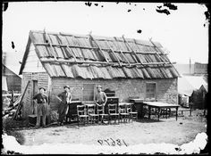 Ackland's first furniture & carpentry store, Hill End, 1872