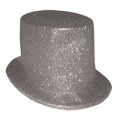 Silver Glitter Top Hat from Windy City Novelties,  $1.80 each.  Pinned by Anita.
