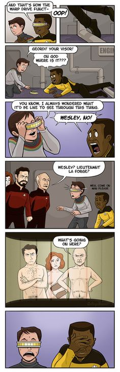#TNG What Geordi actually sees thru the visor