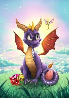 Spyro the Dragon by Zietro - Gamer House Ideas 2019 - 2020 Fantasy Dragon, Fantasy Art, Game Character, Character Design, Spyro And Cynder, Dragon City, Spyro The Dragon, Dragon Artwork, Crash Bandicoot