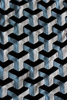 Illusion Blanket by Julie Lapalme crochet