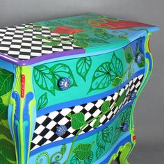 Chest of drawers Flora by ArtPoPo on Etsy