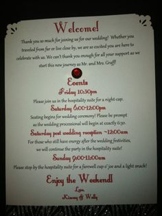 Welcome to Our Wedding Weekend50 Count by KimberlyKeepsakes, $135.00