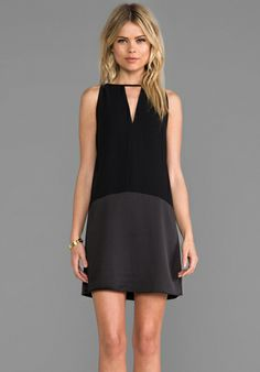 PARKER Stacey Dress in Black at Revolve Clothing <3 this...how does FB know my style?-)
