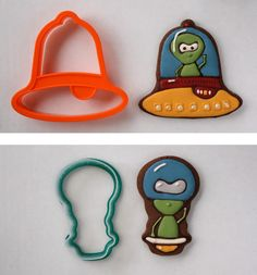 Retro Space Cookies Made Out Of Christmas Cookie Cutters