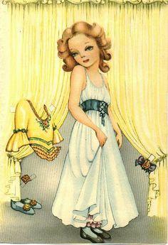 Vintage Paper doll Helene