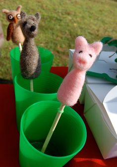 Peek  A  Boo Friend  Pop Up Needle Felted Baby Toy by artsymommas, $20.00