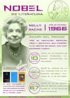 Nelly Sachs, la primera mujer judía en ganar un Premio Nobel de #Literatura, por @Lorna Riojas Campos M.  Ingresa a la web de la imagen para poder acceder a los links de la infografía   De Papel a Digital