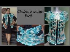 chaleco a crochet fácil - YouTube Free Crochet, Crochet Top, Summer Cardigan, Crochet Videos, Crochet Cardigan, Crochet Clothes, Free Pattern, Crochet Patterns, Clothes For Women