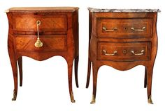French Inlaid Commodes, Pair on OneKingsLane.com