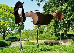 Tim Bailey Sculpture in Eleanor Tinsley Park Houston | Explore Houston With Peggy