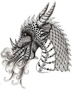 zentangle dragons - Google zoeken
