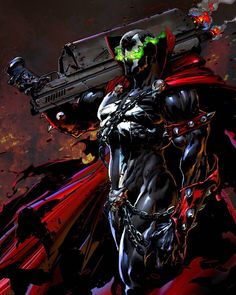 Spawn by Kanartist Spawn Characters, Comic Book Characters, Comic Character, Comic Books Art, Comic Art, Spawn Comics, Arte Dc Comics, Rogue Comics, Image Comics