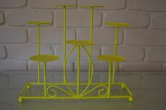 Fluro Yellow Candle Holder