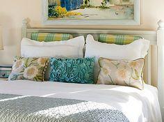 arranging pillows