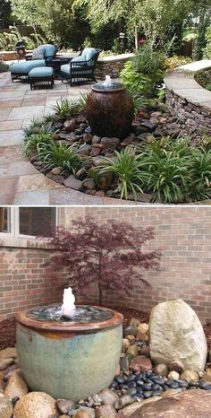 Nice 25 Landscaping Ideas for Front Yards In such a scenario, a container garden is your best choice. If there's an outdoor garden, extending behind or in front of your house, you might constantly consider improving it further Landscaping With Rocks, Front Yard Landscaping, Landscaping Melbourne, Landscaping With Fountains, Design Jardin, Water Features In The Garden, Outdoor Water Features, Garden Projects, Garden Inspiration