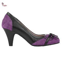 Superga 4264-SYNLEASUEW BLACK-LILAC - Chaussures superga (*Partner-Link)