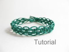 Instant Download PATTERN Easy Forest Green Macrame Bracelet Pattern - Macrame Bracelet Tutorial - Macrame Bracelet pdf