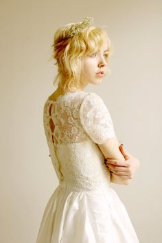 Elandra--2 Piece, Lace and Silk Wedding Dress