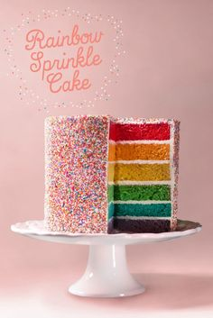 Creative rainbow sprinkle birthday cake idea