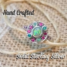 🔮BOGO SOLID Sterling Silver Ruby Fire Opal Ring 🔮Everything in my closet is temporarily BOGO HALF OFF! See closet sale listing for rules.   Reduced from $50 to $35! A STEAL! FINAL PRICE!   This stunning ring is brand new & a size 7.5. It's SOLID sterling silver with 1 ct natural pink ruby & fire opal stones. It's stamped 925. It's made of original Victorian mould from the Victorian era w/intricate filigree design. It's a dainty but sturdy ring. This is the actual ring & it's one of a kind…