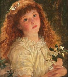 Sophie Anderson (British 1823-1903)The young flower girl