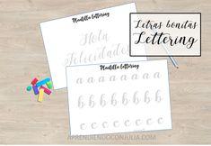 Decoración de letras bonitas y lettering con plantilla para imprimir - Aprendiendo con Julia