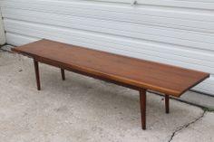Mid Century Modern Drexel Declaration Coffee Table / Bench By Kipp Stewart