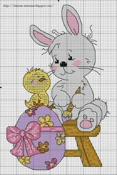 Easter Bunny and Chick chart