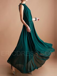 Ericdress Summer Dark Green Maxi Dress  Maximum Style