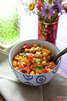 Vegan Thai Chickpea Curry recipe. Delicious for Meatless Monday & the kids will love it too! MarlaMeridith.com ( @marlameridith ) #vegan #recipe