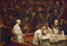 "La Clínica Agnew (""The Agnew Clinic""). Thomas Eakins. 1889. Localización: University of Pennsylvania (Pennsylvania) https://painthealth.wordpress.com/2015/11/18/la-clinica-agnew/"