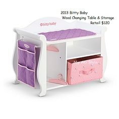 American Girl Doll Bitty Baby Changing Table American Girl Catalog,  American Girl Baby Doll,