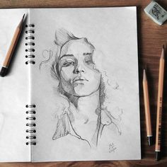 "4,303 Likes, 30 Comments - Miroslav Zgabaj (@miro_z_art) on Instagram: ""Sketchbook Photo reference - @tashimrod by @erikbdanielson #face #portrait #sketch #sketchbook…"""
